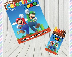 Kit Colorir Super Mario