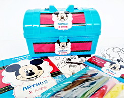 Maletinha kit para colorir Mickey