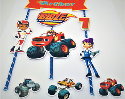 Topo de Bolo Blaze And The Monster Machines