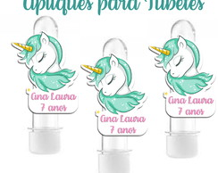tag aplique unicornio