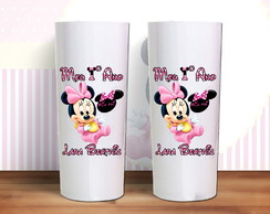 Copos Long Drink Minnie Baby Rosa