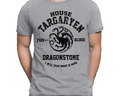 Camiseta Game Of Thrones Targaryen Stark Jon Snow