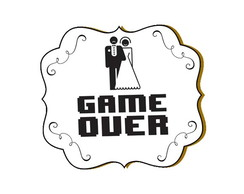 Painel Game Over em MDF