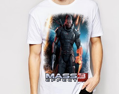 Camiseta/ Bata e Baby-look Mass Effect 3