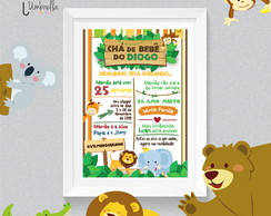 Chalckboard Safari | Quadro Selva e Safari