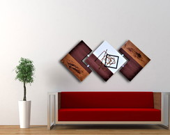 Quadro Abstrato Decorativo 60x120 - Luxuoso