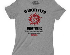 Camiseta Baby Look Séries Supernatural Winchester Brothers