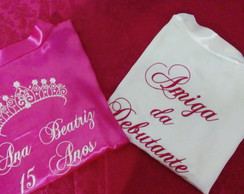 Kit 2 Robes de Cetim Debutante