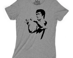 Camiseta Baby Look Bruce Lee Filmes Artes Marciais Kung Fu