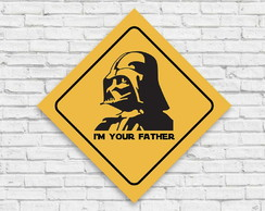 "Placa decorativa ""Darth Vader"""