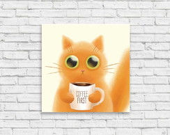 "Placa decorativa ""Coffee first"""