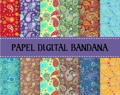 Kit Papel Digital Bandana