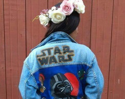 Jaqueta jeans customizada Star Wars