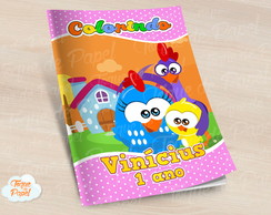 Revista colorir Galinha Pintadinha Mini