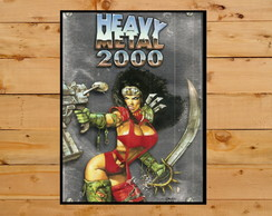 Poster Cartaz Placa Heavy Metal 2000 Movie Film
