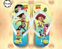 CHINELO TOY STORY INFANTIL PERSONALIZADO CUTE