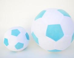 641d32963a ... Bolas de Futebol de Pelúcia Branca e Azul ( 2 peças )