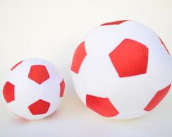 802852f52d ... Bolas de Futebol de Pelúcia Branca e Vermelha ( 2 peças )