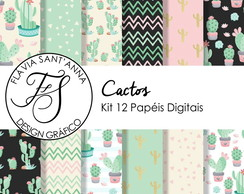 KIT PAPEL DIGITAL - CACTOS