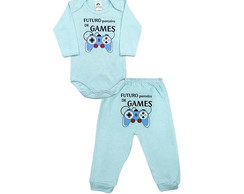 CONJUNTO BODY E CALÇA ESTAMPADOS GAMES