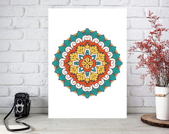 Poster digital arte p/ quadro decorativo - Mandala