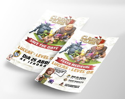 Convite e Save the Date Digital - Clash of Clans
