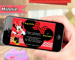 Convite Digital Tema Minnie