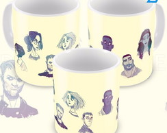 caneca Sense personagens cartoon