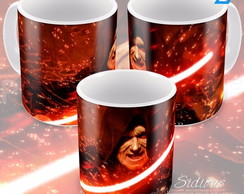 Caneca Star Wars The Dark Side Darth Lord Sidios Sabre Luz