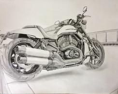 Desenho Motocicleta A3 No Elo7 Jp Designer Cddf11