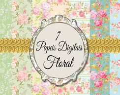 PAPEL DIGITAL FLORAL PARA SCRAPBOOK