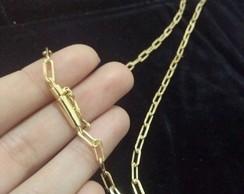 b81469dfee5 ... Corrente Cartier Banhada a ouro 18k