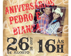 Convite Virtual Festa Country com foto