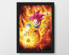 Goku God - Quadro decorativo Geek