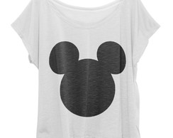 T-shirt Blusinha Feminina Plus Size Mickey Mouse