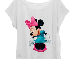 T-shirt Blusinha Feminina Plus Size Minnie Mouse