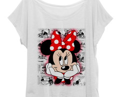 T-shirt Blusinha Feminina Plus Size Minnie Mouse HQ