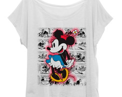 T-shirt Blusinha Feminina Plus Size Minnie Mouse Retro HQ