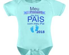 ... Body Bori Bebê Personalizado Primeiro Dia dos Pais Menino 343a7b0a70283