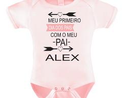 Body Bori Bebe Personalizado Primeiro Dia dos Pais Menina  51325f4f041fe