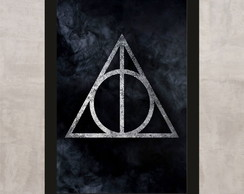 Poster com Moldura Harry Potter 7