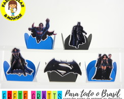 100 Forminhas para doces desmontadas batman vs superman