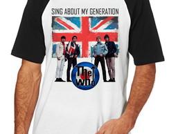 ... Camiseta Raglan Camisa Blusa the who Banda rock Generation d39bc14647b8b
