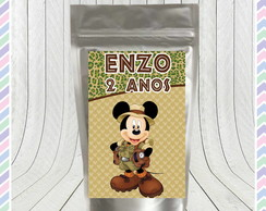 Saco Metalizado Mickey Safari