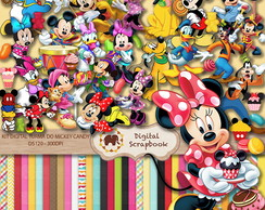Kit Scrap Digital - Turma do Mickey candy