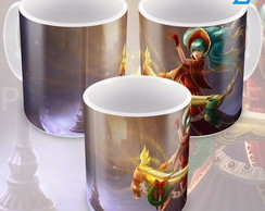 Caneca League Of Legends Sona Noite Feliz Lol