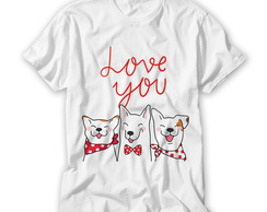 Camiseta Love you Dogs
