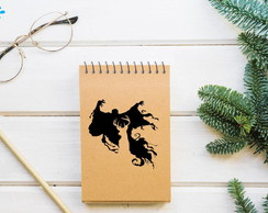 Bloquinho de anotaçoes Harry Potter - COM CAPA KRAFT