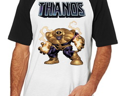 Camiseta Raglan Camisa Blusa thanos cartoon Marvel Vingadore