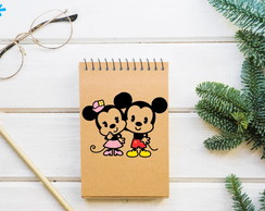 Bloquinho de anotaçoes Mickey e Minnie - COM CAPA KRAFT